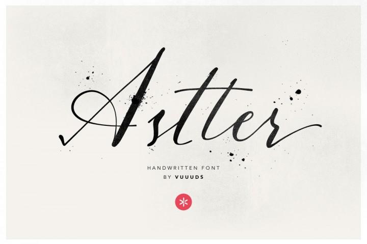 Astter肌理帅气个性手写英文字体下载