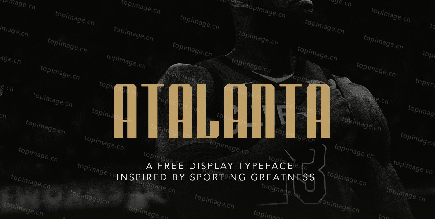 Atalanta无衬线现代简洁logo英文字体下载