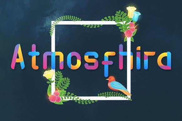 Atmosfhira节日类海报英文字体下载