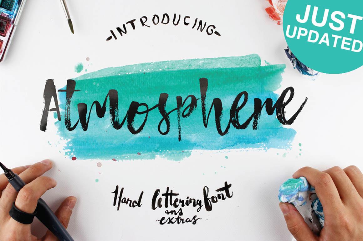 Atmosphere笔刷书法手写英文字体下载