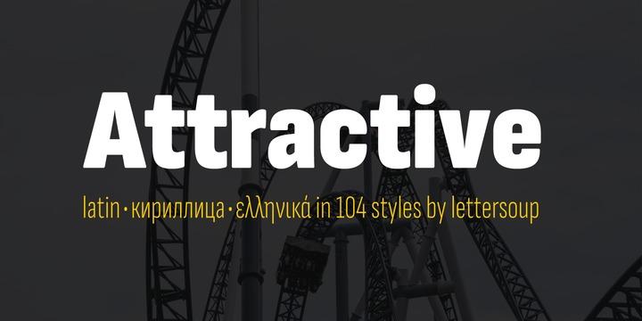 Attractive现代无衬线sans英文字体下载