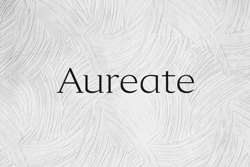 Aureate衬线设计优雅好看的logo英文字体下载