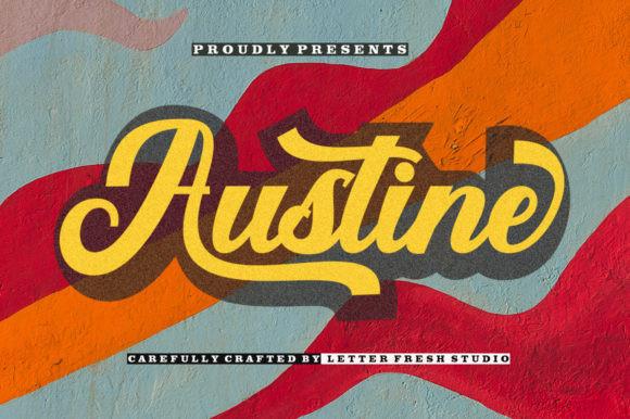 Austine时尚潮流英文字体设计艺术转换下载