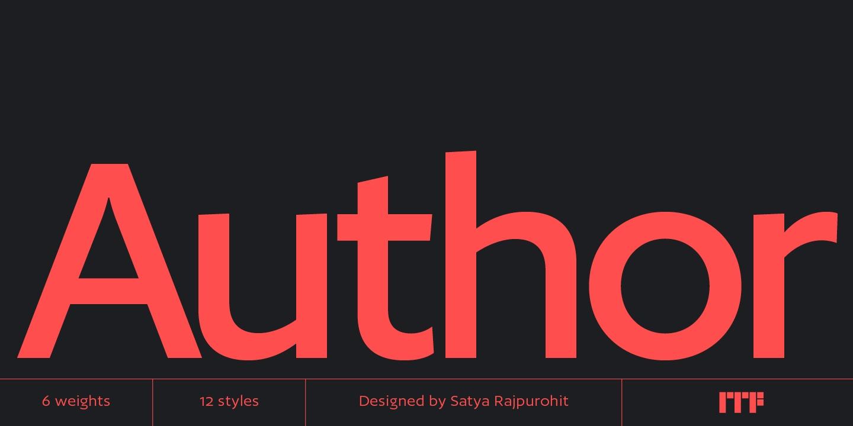 Author现代经典logo英文字体下载