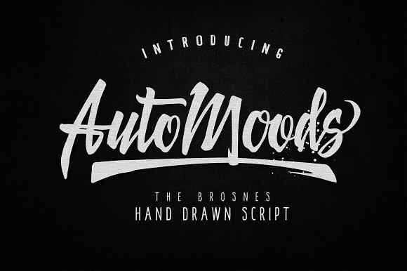 Auto Moods 手写连笔手绘时尚潮牌英文字体下载