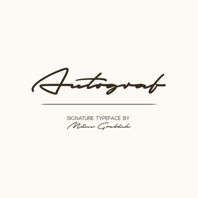 Autograf艺术个性签名手写连笔英文字体下载