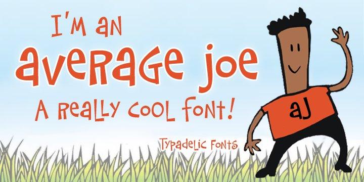 AverageJoe个性手写卡通可爱英文字体下载