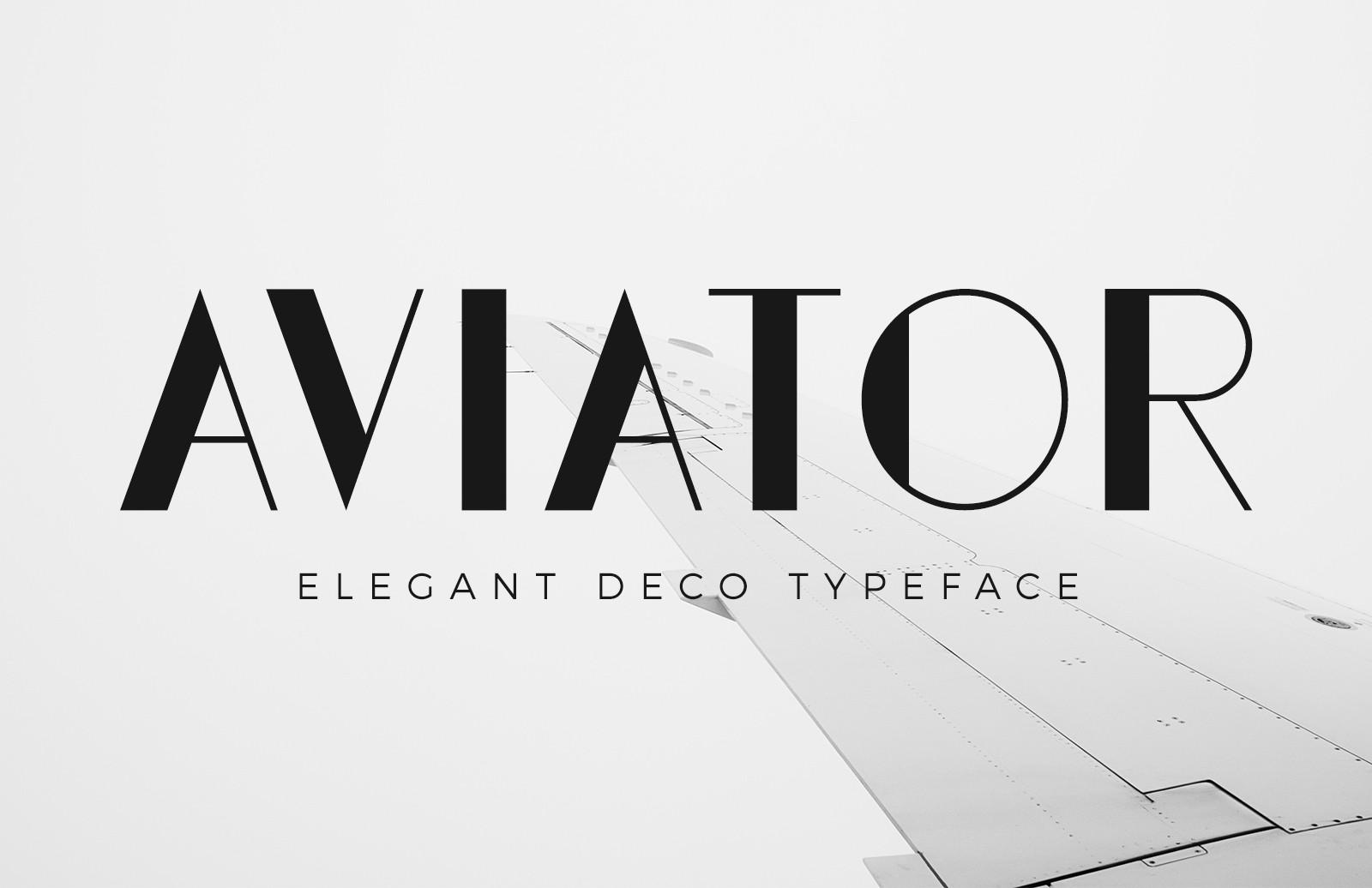 Aviator创意简洁极细logo英文字体下载