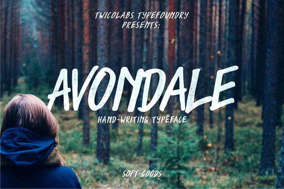 Avondale手写英文字体下载