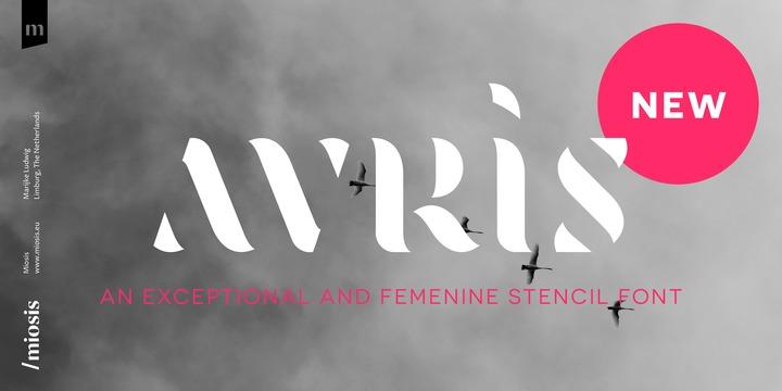 Avris创意logo简洁英文字体下载