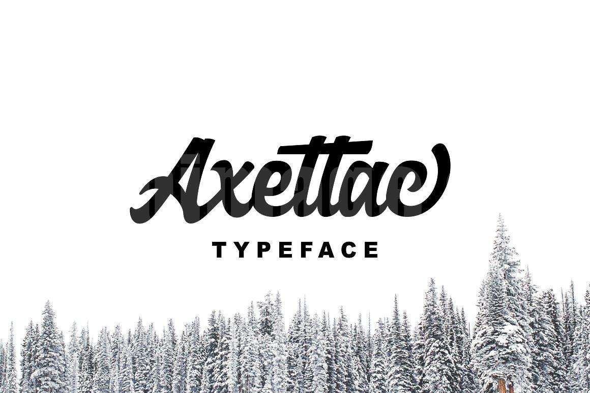 Axettac好看的手写手绘唯美艺术英文连笔艺术字体下载