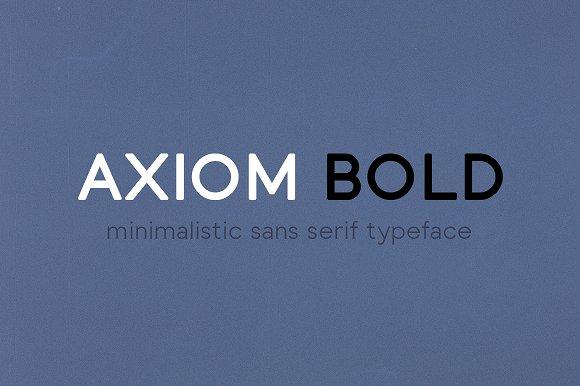 Axiom Bold现代无衬线logo英文字体下载