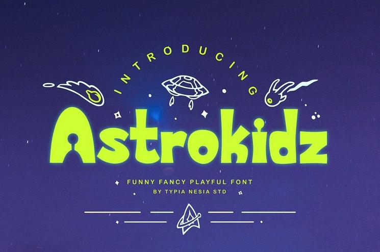 Aztrokidz卡通手写创意包装儿童有趣英文字体下载