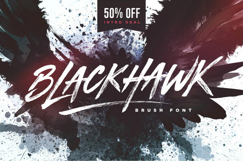 BLACKHAWK书法笔触手写毛笔英文字体下载