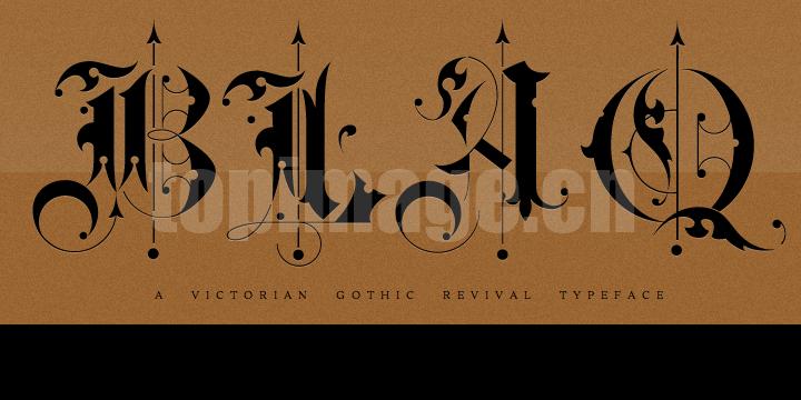 BLAQ复古个性化哥特飘逸感艺术英文字体下载
