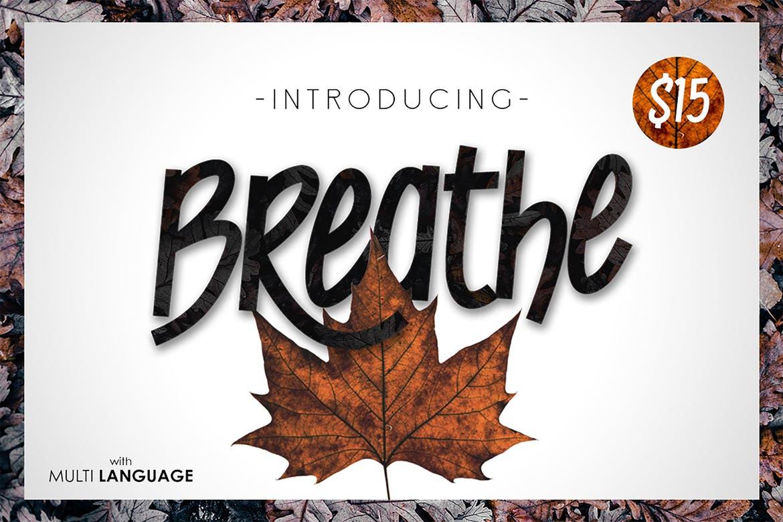 BREATHE手写个性英文字体下载