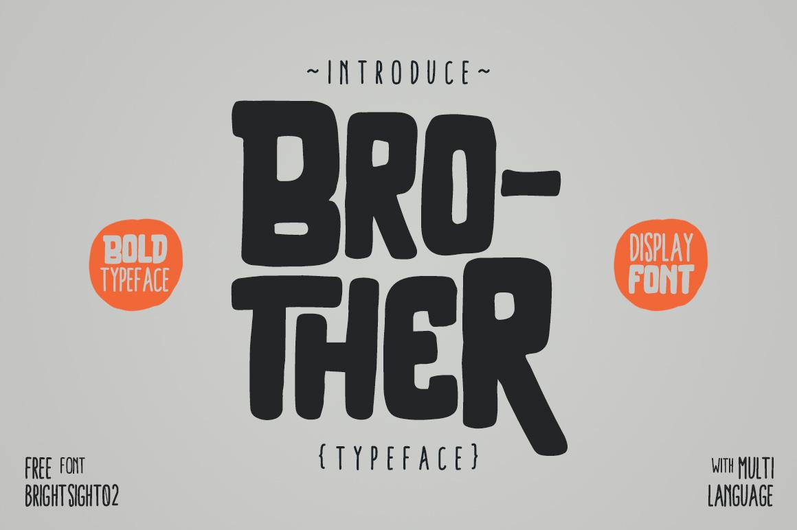 BROTHER手写创意服饰海报英文字体下载(粗细两种字体)