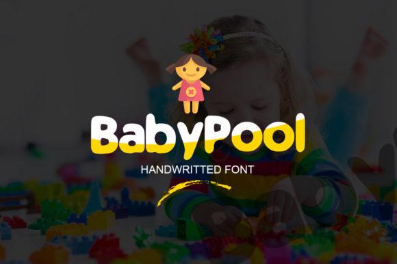 Baby Pool 手写手绘卡通英文字体下载