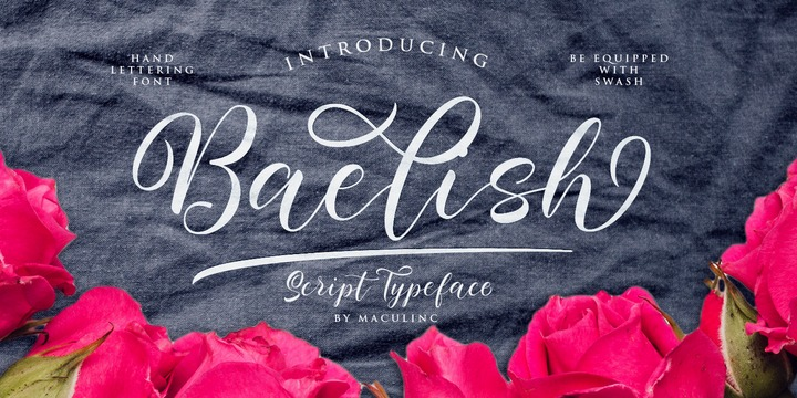 Baelish花体连笔线条英文字体下载