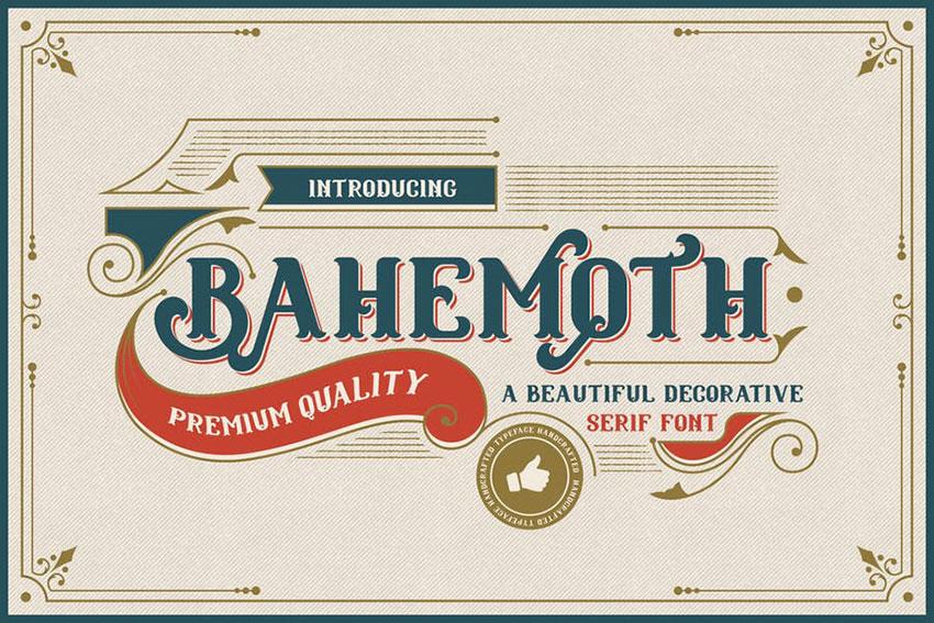 Bahemoth复古哥特老式logo英文字体下载