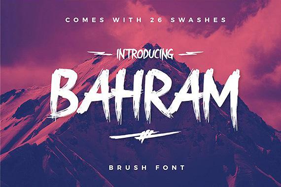 Bahram书法手写毛笔笔触大气英文字体下载