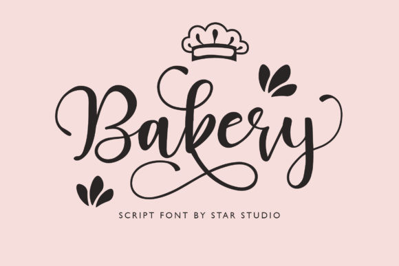 Bakery婚礼花体logo婚庆英文字体下载