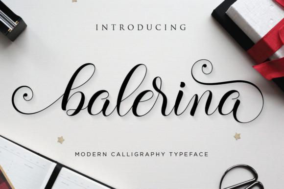 Balerina花体连笔婚礼好看的英文字体下载