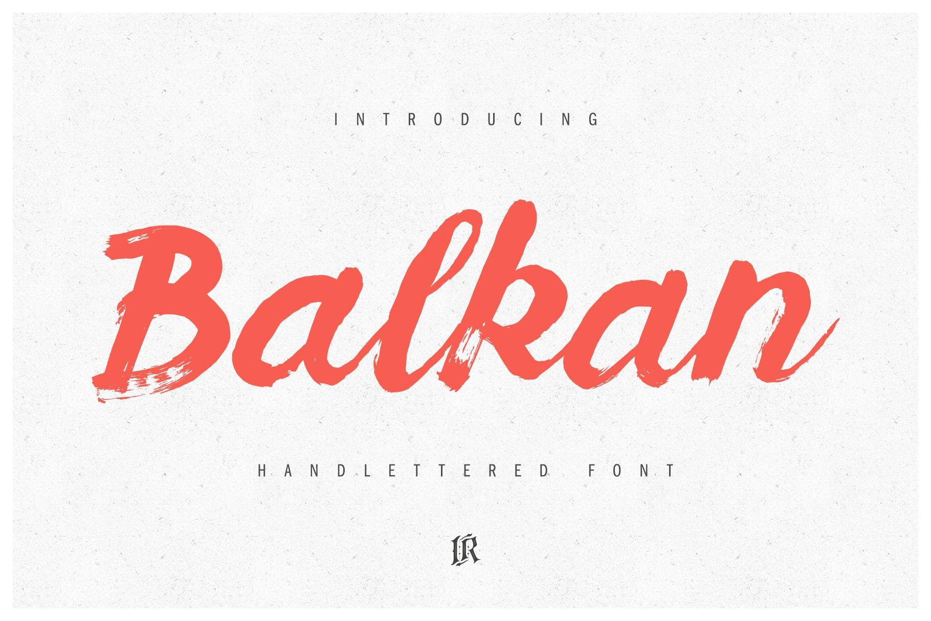 Balkan书法笔触手写毛笔英文字体下载