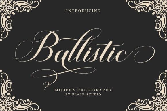 Ballistic手写个性设计创意英文字体下载