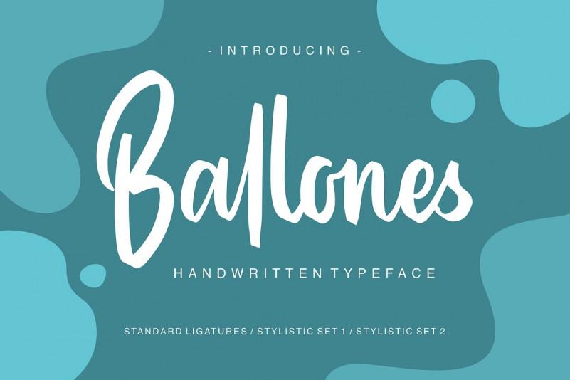 Ballones手写连笔趣味街头涂鸦英文字体下载