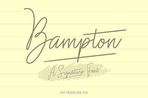 Bampton Signature个性手写连笔英文字体下载