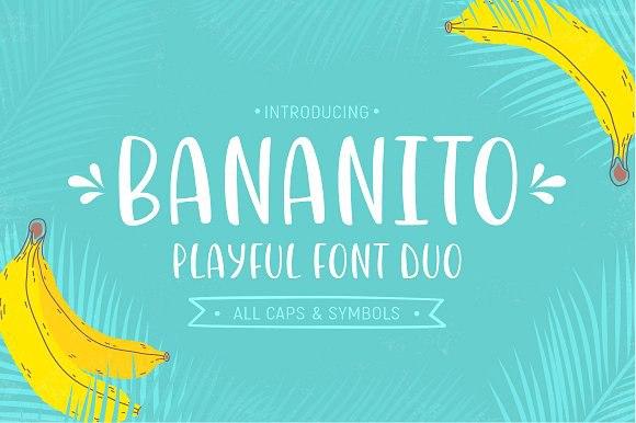 Bananito现代趣味手绘海报可爱卡通英文字体下载