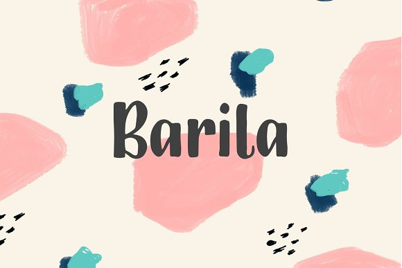 Barila手写英文字体下载