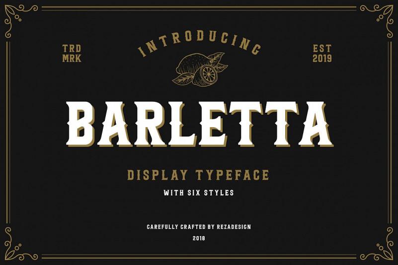 Barletta经典复古哥特logo英文字体下载