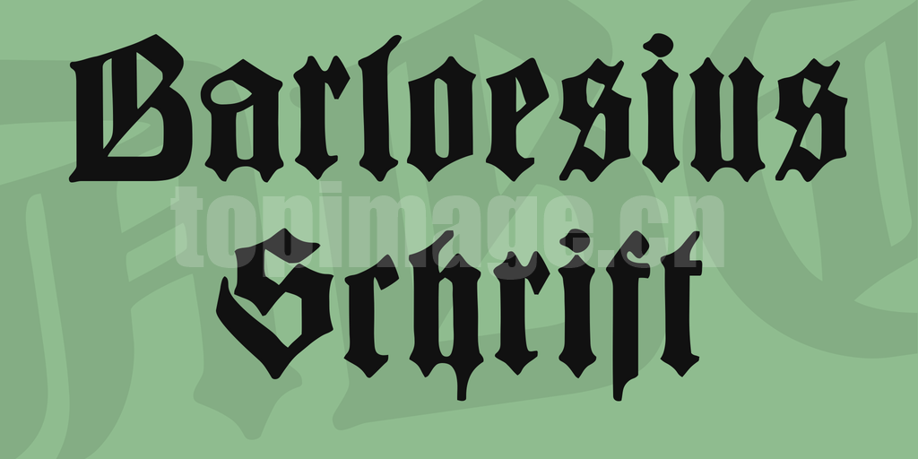 Barloesius哥特式异形个性化英文字体下载
