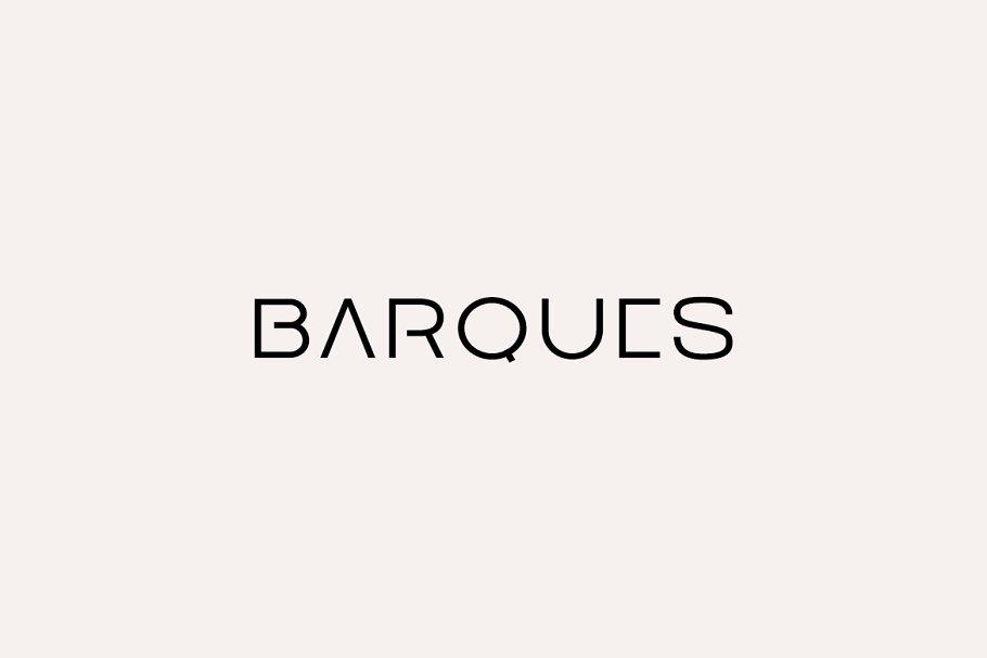 Barques现代无衬线设计logo英文字体下载