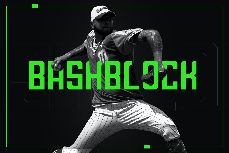 Bashblock体育运动海报英文字体下载