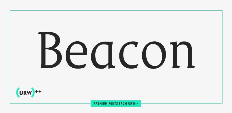 Beacon URW 衬线设计优雅logo英文字体下载