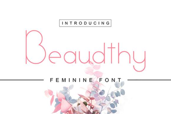 Beaudthy现代简洁logo英文字体下载