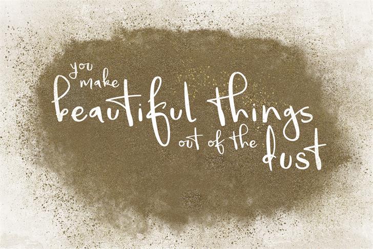 BeautifulThings插画手绘海报手写英文字体下载