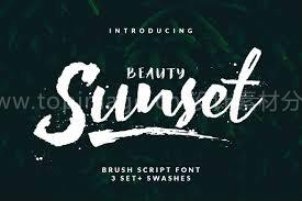 Beauty Sunset书法手绘笔触英文字体下载