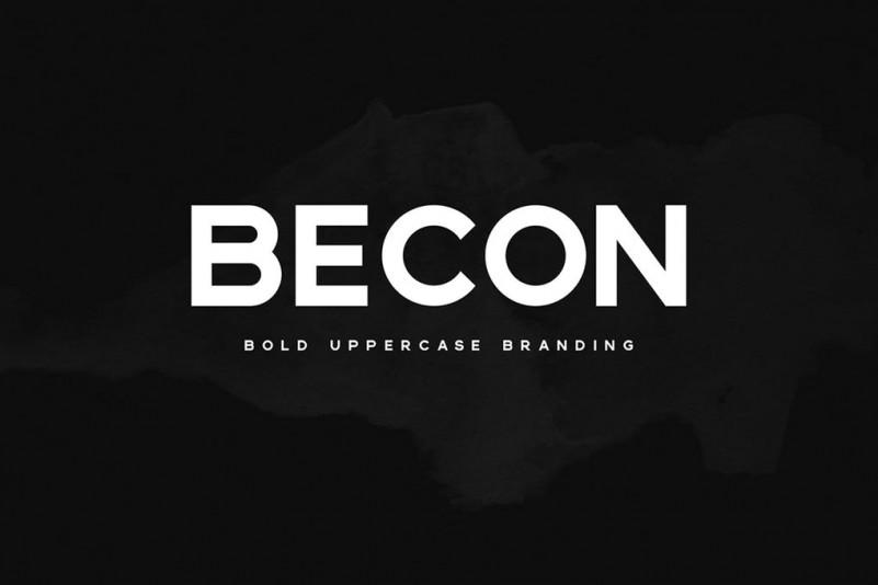 Becon现代无衬线logo设计英文字体下载