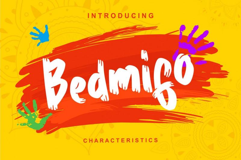 Bedmifo笔刷手写手绘英文字体下载