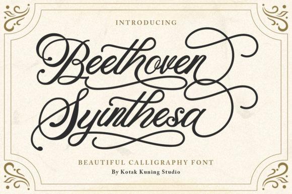 Beethoven Syinthesa手写花体圆体奇卡诺英文字体下载