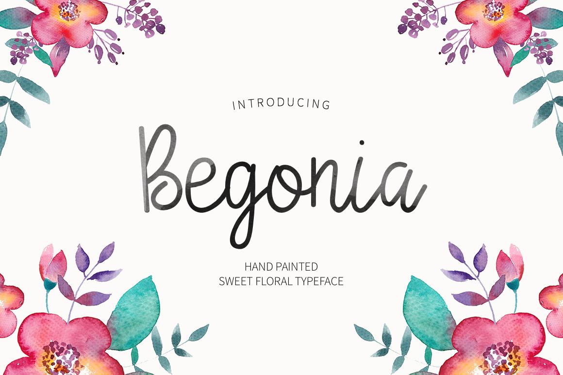 Begonia手写连体文艺简约时尚英文字体下载