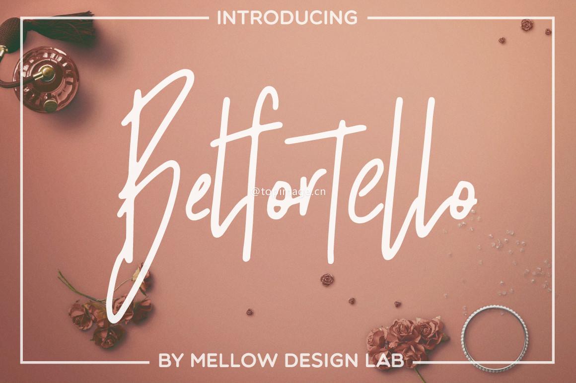 Belfortello个性手写电商海报英文字体下载