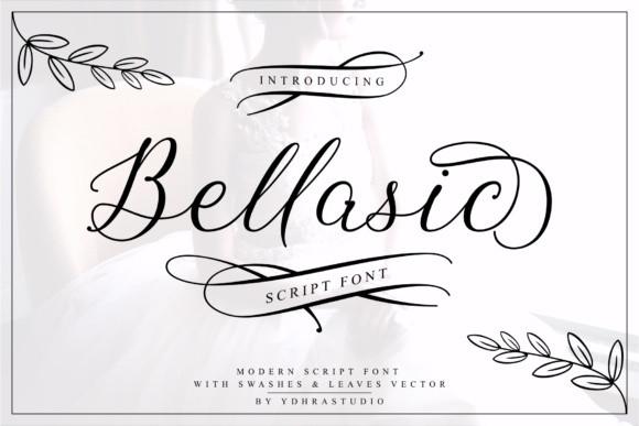 Bellasic手写婚礼花体英文字体大全下载