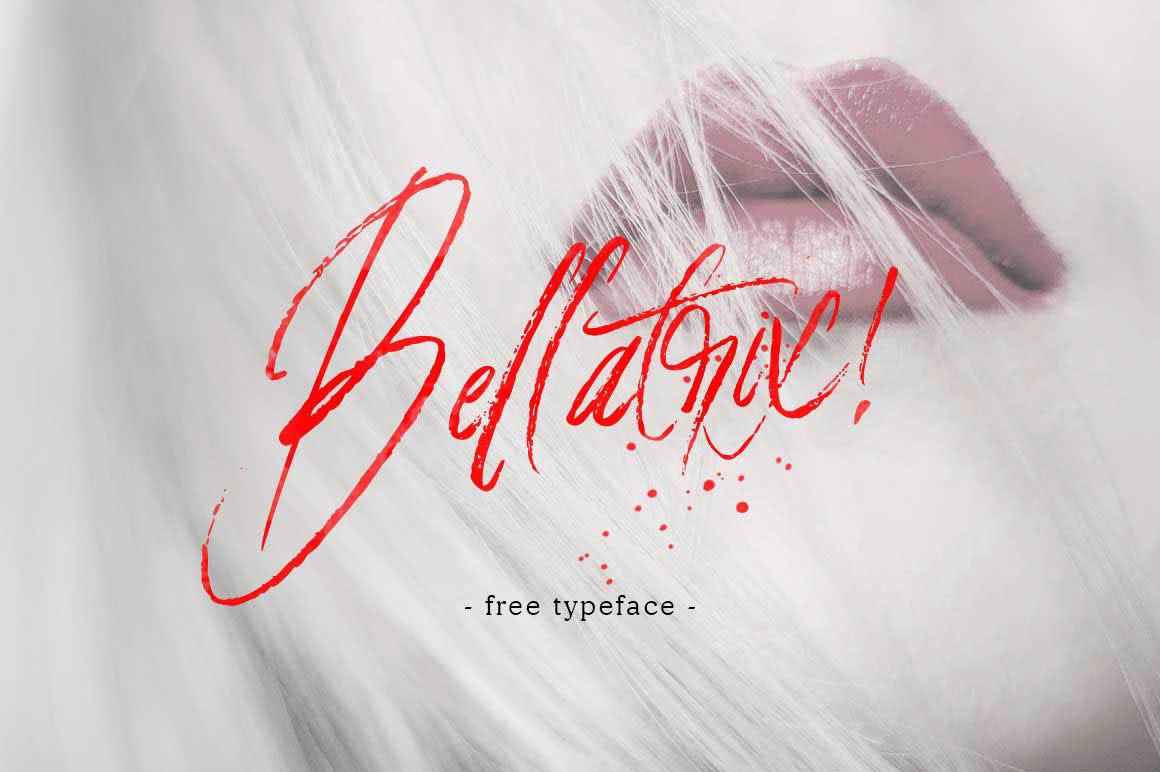 Bellatrix手写书法笔触毛笔英文字体下载