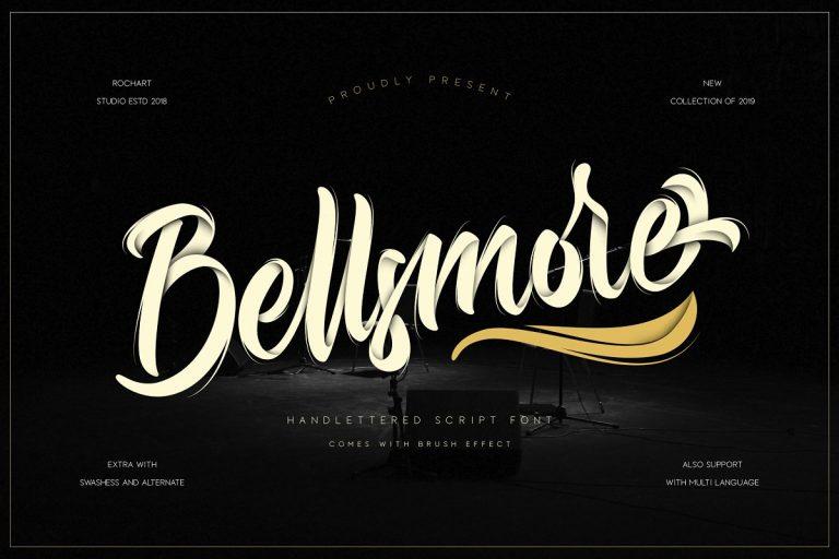 Bellsmore手写笔触连笔英文字体下载