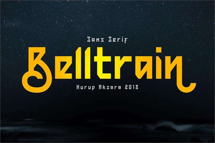 Belltrain未来科幻主题创意logo现代英文字体下载